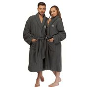 Authentic Hotel and Spa Turkish Cotton Charcoal Monogrammed Unisex Bath Robe b43edcbb1