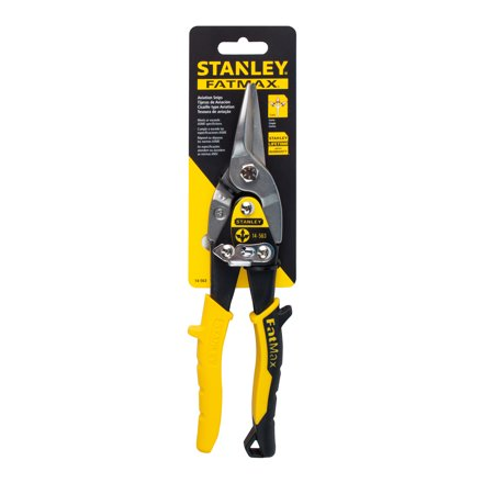 Steel Straight Cut Aviation Snips - STANLEY 14-563W Aviation Straight Snips