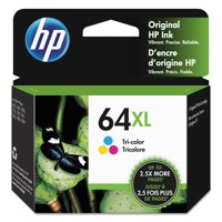 HP 64XL Tri-Color High Yield Original Ink Cartridge, 415 Page-Yield