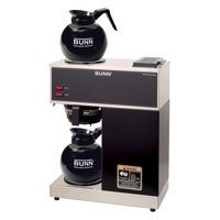 BUNN VPR 12-Cup Commercial Coffee Brewer with Two Glass Decanters, 2 Warmers