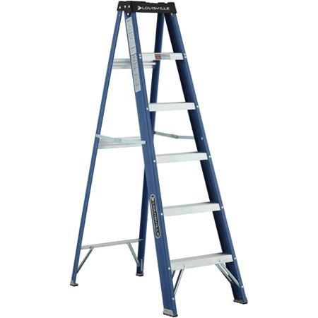 Louisville Ladder 6 Ft Fiberglstep Ladder With Project Top Type Ii 225