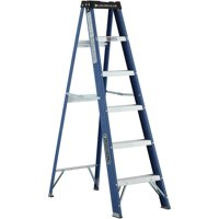 Louisville Ladder 6 ft. Fiberglass Step Ladder with project top, Type II, 225 Lbs Load Capacity W-3215-06