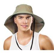 super popular b51d4 cc182 Sun Blocker Outdoor Sun Protection Fishing Cap with Neck Flap, Wide Brim Sun  Hat for
