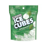 Ice Breakers Ice Cubes Spearmint Flavor Gum, 100 Pieces, 8.11 Oz.