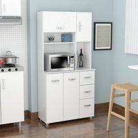 Inval Modern Laricina-white Kitchen Storage Cabinet