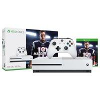 Microsoft Xbox One S (500GB) Madden NFL 18 Bundle, White, ZQ9-00317