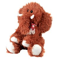 Holiday Time Wooly Animal Plush Mammoth Brown Made of Polyester for All Ages