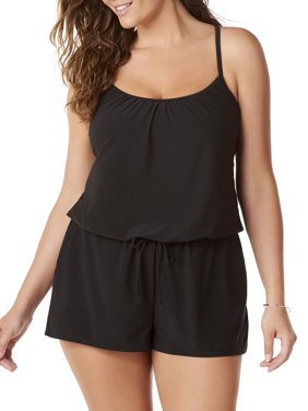 Women's Romper Swimsuit w/Pockets