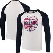 dce94fb91ac Cleveland Indians New Era Raglan Long Sleeve T-Shirt - White/Navy