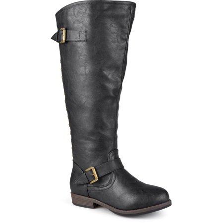 Calf High Platform - Women's Extra Wide Calf Knee-high Studded Riding Boots