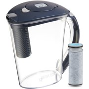 Brita Large Stream Filter as You Pour Water Pitcher with 1 Filter, Rapids BPA Free, Carbon Gray, 10 Cup