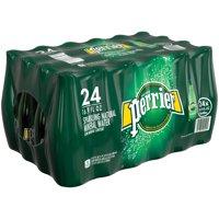 (24 Bottles) PERRIER Carbonated Mineral Water, 16.9 Fl Oz