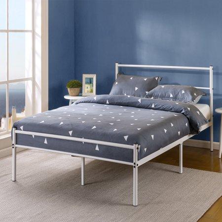 Zinus Geraldine 12 Quot White Metal Platform Bed Frame With