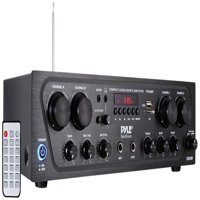 Pyle PTA42BT 500W Compact Bluetooth Home Audio Amplifier, 4-Ch. Audio Source Stereo Receiver System