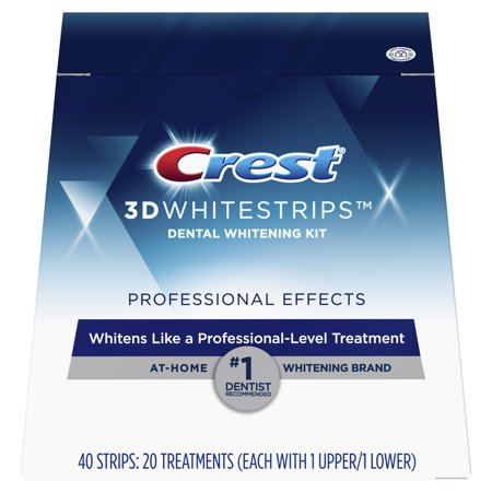 - Crest 3D Whitestrips Professional Effects Teeth Whitening Strips Kit, 20 Treatments