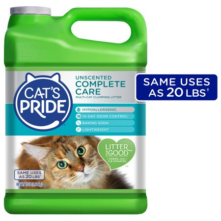 Cat's Pride Complete Care Unscented Multi-Cat Clumping Litter, Hypoallergenic and Lightweight, 10 lbs.