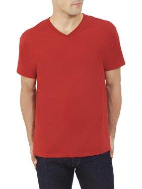 Fruit of the Loom Men's Platinum Eversoft Short Sleeve V Neck T Shirt, up to Size 4XL