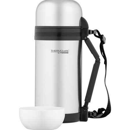 Thermos ThermoCafe Vacuum Insulated Large Food and Beverage Bottle, 1.3-Quart (Thermos Compact Beverage Bottle)