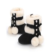 Baby Girl Boy Soft Booties Snow Boots Infant Toddler Newborn Warming Shoes