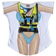 403b477c4e la imprints fantasy women's scuba girl white cotton swimsuit cover up