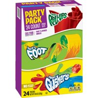 (2 Pack) Fruit Roll-Ups, Fruit By The Foot, Gushers, Mini Size Variety Pack 24 ct