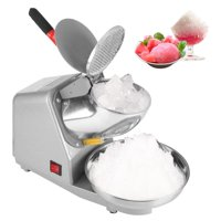 Dilwe Commercial Household Manual Electric Ice Crusher Shaver Machine Snow Cone Maker 110V, Ice Shaver, Snow Cone Maker