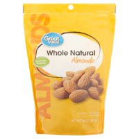 (2 Pack) Great Value Whole Natural Almonds, 14 oz