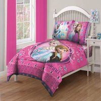 Disney Frozen Nordic Florals Comforter Set with Fitted Sheet