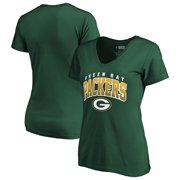 e46c99c8 Women's Fanatics Branded Green Green Bay Packers Faded Arch V-Neck T-Shirt