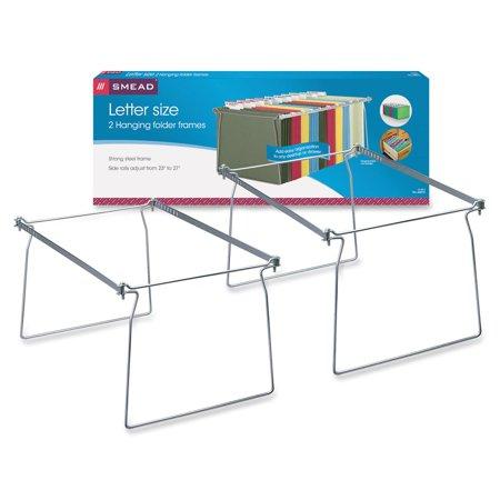 Adjustable Hanging Folder Frame Drawer (Smead Hanging File Folder Frame, Steel, Letter Size, 2 per)