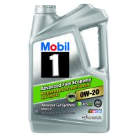 Mobil 1 0W-20 Advanced Fuel Economy Full Synthetic Motor Oil, 5 qt.