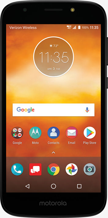 Verizon Wireless Motorola Moto E5 Play 16GB Prepaid Smartphone, Black ()