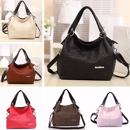 Fashion Leather Satchel Hobo Handbags For Women Large Shoulder Messenger Bag Tote Cross (Khaki Cam Bag)
