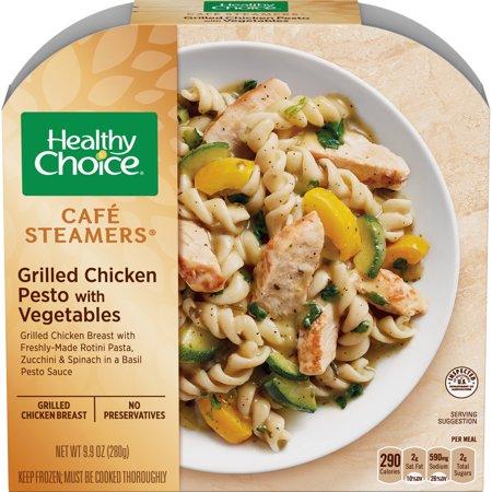 Healthy Choice Cafe Steamers Frozen Dinner Grilled Chicken Pesto