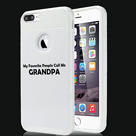 For Apple (iPhone 8) Shockproof Impact Hard Soft Case Cover My Favorite People Call Me Grandpa