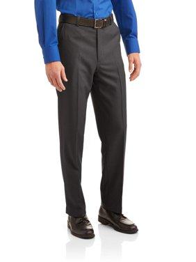 George Men's Microfiber Performance Flat Front Dress Pant