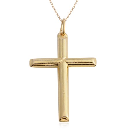 Amber Stone Jewelry (925 Sterling Silver Cross Chain Pendant Necklace Jewelry Gift for Women 18
