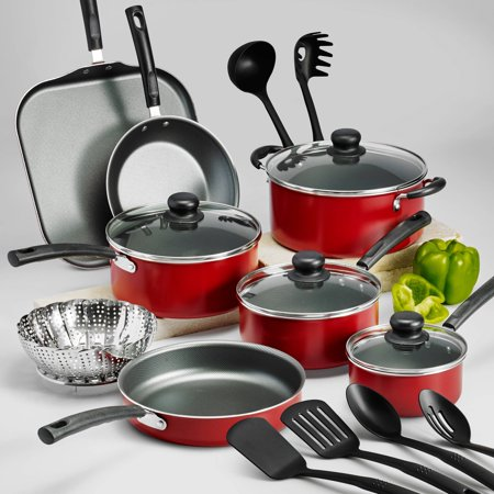 Tasty Dishes - Tramontina PrimaWare Non-Stick Cookware Set, 18 Piece