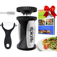 The Original SpiraLife Vegetable Spiralizer, Spiral Vegetable Slicer, Zucchini Spaghetti Maker and Recipe eBook Package, 2 Pasta Styles in One