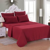 """6 Piece Soft Microfiber Bed Sheet Set, Deep Pocket Up To 16"""", Wrinkle & Fade Resistant Collection Bed Sheet Queen/King/Full/Twin/CK"""
