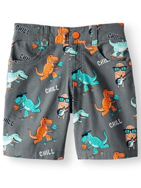 Dinosaur Printed Canvas Shorts (Little Boys & Big Boys)