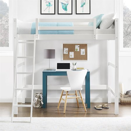 Your Zone Collection Twin Wood Loft Bed White Walmart Com