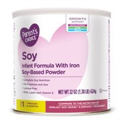 Parent's Choice Soy Infant Formula with Iron, 22 ounce