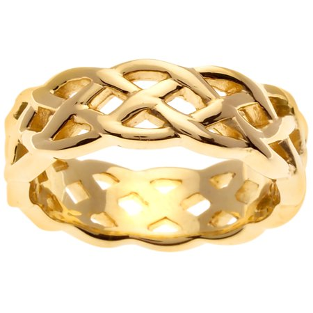 14K Gold Infinity Knot Celtic Comfort Fit Women