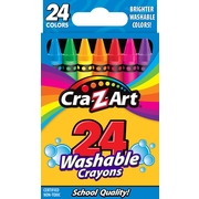 Cra-Z-Art Washable School Crayons - 24 Count, Arts and Crafts