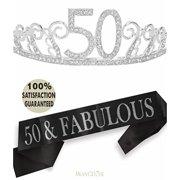 50th Birthday Tiara And Sash Happy Party Supplies