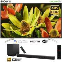 "Sony XBR60X830F 60""-class Bravia 4K HDR Ultra HD Smart LED TV (2018 Model) with Sony HT-ST5000 7.1.2ch 800W Dolby Atmos Sound Bar"