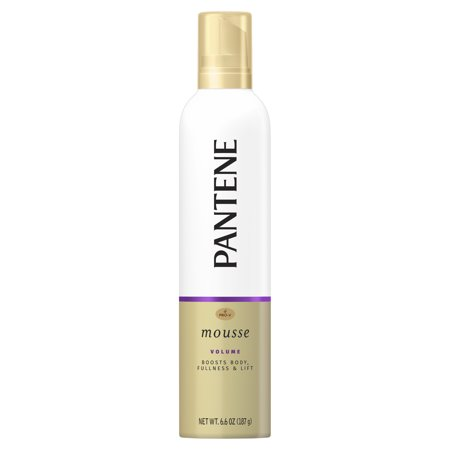 Pantene Pro-V Volume Body Boosting Mousse to Boost Fine, Flat Hair for Maximum Fullness, 6.6