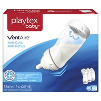 Playtex Baby VentAire Complete Tummy Comfort 9oz 3-Pack Baby Bottle