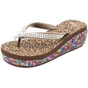 649882eea3c87 Blazin Roxx Western Shoes Womens Jamie Flip Flops Cross 41140